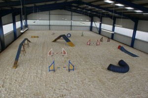 finished indoor school & agility course
